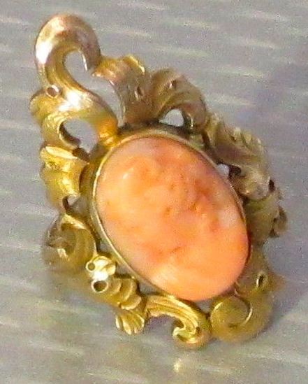 Pink Cameo Ring