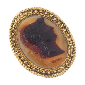Agate Cameo Ring Minerva / Athena