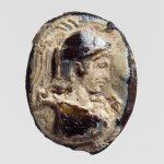 Bust of Athena glass cameo