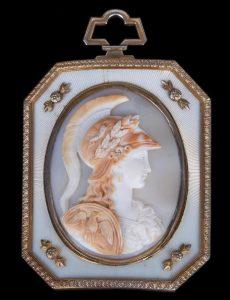 Faberge Minerva Roman Goddess Cameo