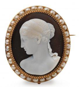 Michelini Neo Classical Brooch