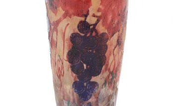 Daum Art Nouveau Cameo Vase