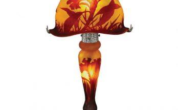 Daum Acid-Etched Cameo Glass Lamp