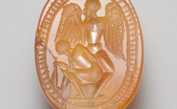 Sard Intaglio with seated Herakles with Hypnos