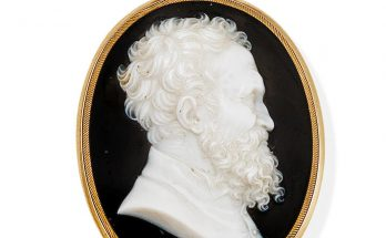 An onyx cameo portrait, by Giovanni Antonio Santarelli, late 18th/early 19th century