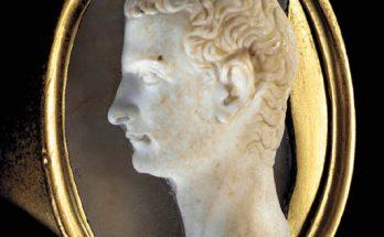A ROMAN ONYX CAMEO PORTRAIT OF CALIGULA Circa 37-41 A.D.