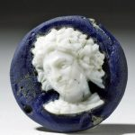 Cameo with a high-relief bust of a young Alexander wearing a Herakles knotted lion skin tied at the neck