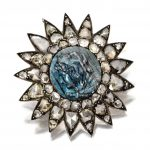 Labradorite Cameo and Diamond Pendant-Brooch, circa 1880