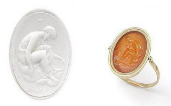 An 18th-19th century carnelian intaglio and gold ring, by Cerbara