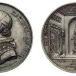 Pius IX Ferretti, silver medal 1853, 43mm., by Giuseppe Cebara