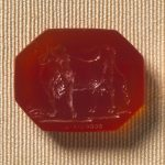 Carnelian intaglio of a cow
