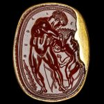 Scarab with Hercle/Herakles throttling the Nemean lion