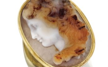 Gold and Hardstone Cameo Ring, Giovanni Antonio Santarelli