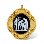 An 18th-19th century sardonyx cameo and gold brooch/pendant, by Amastini