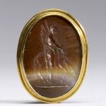 Gem with Intaglio with Bellerophon and Pegasos